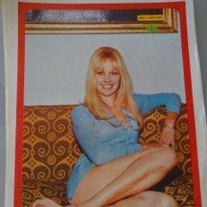 Coleccionismo de Revista Diez Minutos: POSTER DE LA REVISTA DIEZ MINUTOS AÑO 1972. ACTRICES ACTORES CANTANTES 40 X 27 CM GELA GEISLER. Lote 98516075