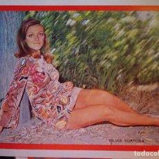 Coleccionismo de Revista Diez Minutos: POSTER DE LA REVISTA DIEZ MINUTOS AÑO 1972. ACTRICES ACTORES CANTANTES 40 X 27 CM SILVIA TORTOSA. Lote 98943275