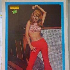 Coleccionismo de Revista Diez Minutos: POSTER REVISTA DIEZ MINUTOS AÑO 1972. ACTRICES CANTANTES 40 X 27 CM. RAQUEL WELCH. MUJER SEXY. Lote 99909455