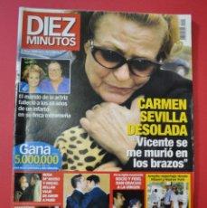 Coleccionismo de Revista Diez Minutos: DIEZ MINUTOS CARMEN SEVILLA / 5 MAYO 2000. Lote 100237755