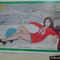 Coleccionismo de Revista Diez Minutos: POSTER REVISTA DIEZ MINUTOS AÑO 1972. ACTRICES CANTANTES 40 X 27 CM. GRACIA MONTES. MUJER SEXY. Lote 100341723