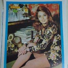 Coleccionismo de Revista Diez Minutos: POSTER REVISTA DIEZ MINUTOS AÑO 1972. ACTRICES CANTANTES 40 X 27 CM. LA POLACA. MUJER SEXY. Lote 100341731