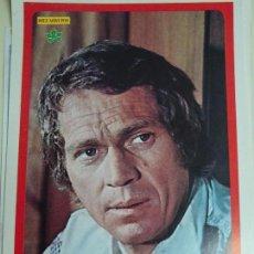 Coleccionismo de Revista Diez Minutos: POSTER REVISTA DIEZ MINUTOS AÑO 1972. ACTRICES CANTANTES 40 X 27 CM. STEVE MCQUEEN. Lote 100341759