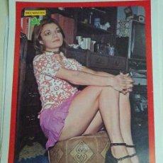 Coleccionismo de Revista Diez Minutos: POSTER REVISTA DIEZ MINUTOS AÑO 1972. ACTRICES CANTANTES 40 X 27 CM. MAITE TOJAR. Lote 100341779