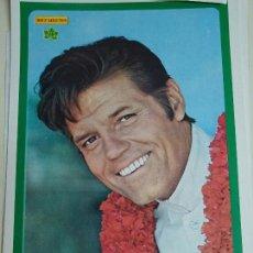 Coleccionismo de Revista Diez Minutos: POSTER REVISTA DIEZ MINUTOS AÑO 1972. ACTRICES CANTANTES 40 X 27 CM. JACK LORD. Lote 100341791