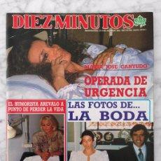 Coleccionismo de Revista Diez Minutos: DIEZ MINUTOS - 1988 MJ CANTUDO, LETICIA SABATER, DALI, BOSE, MARTA SANCHEZ, SAMANTHA FOX, I PANTOJA. Lote 101435503