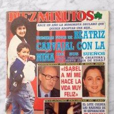 Coleccionismo de Revista Diez Minutos: DIEZ MINUTOS - 1988 L.E. AUTE, TANIA DORIS, ANGELA CAVAGNA, SABRINA, LETICIA SABATER, MARTA SANCHEZ. Lote 101623619