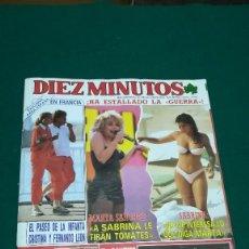 Coleccionismo de Revista Diez Minutos: DIEZ MINUTOS, AÑO 1988, MARTA SANCHEZ-SABRINA ¡HA ESTALLADO LA GUERRA! . MIRAR SUMARIO. Lote 103726391