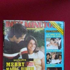 Coleccionismo de Revista Diez Minutos: DIEZ MINUTOS, MERRY MADRE DENTRO DE TRES MESES, DON RACANO, MARY FRANCIS, PSTER SILVIA AGUILAR, 1978. Lote 103846639