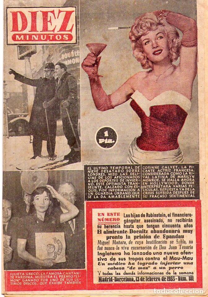 DIEZ MINUTOS *** LOTE 29 REVISTAS DIEZ MINUTOS AÑO 1955 (Coleccionismo - Revistas y Periódicos Modernos (a partir de 1.940) - Revista Diez Minutos)