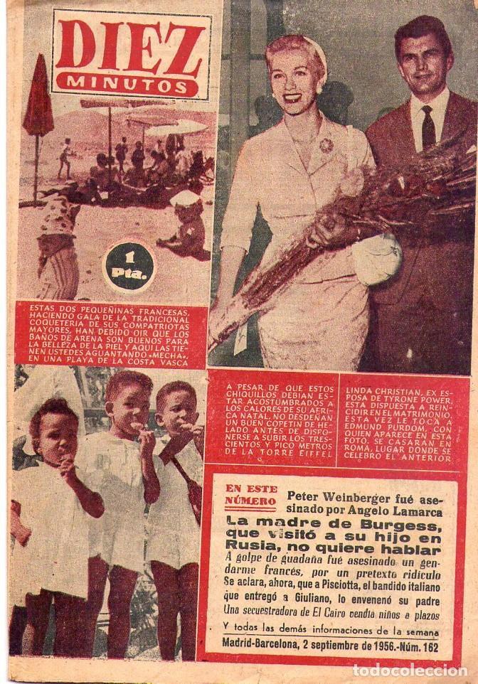 DIEZ MINUTOS *** LOTE 4 REVISTAS DIEZ MINUTOS AÑO 1956 (Coleccionismo - Revistas y Periódicos Modernos (a partir de 1.940) - Revista Diez Minutos)