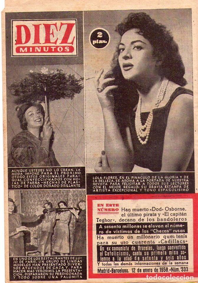 DIEZ MINUTOS *** LOTE 9 REVISTAS DIEZ MINUTOS AÑO 1958 (Coleccionismo - Revistas y Periódicos Modernos (a partir de 1.940) - Revista Diez Minutos)