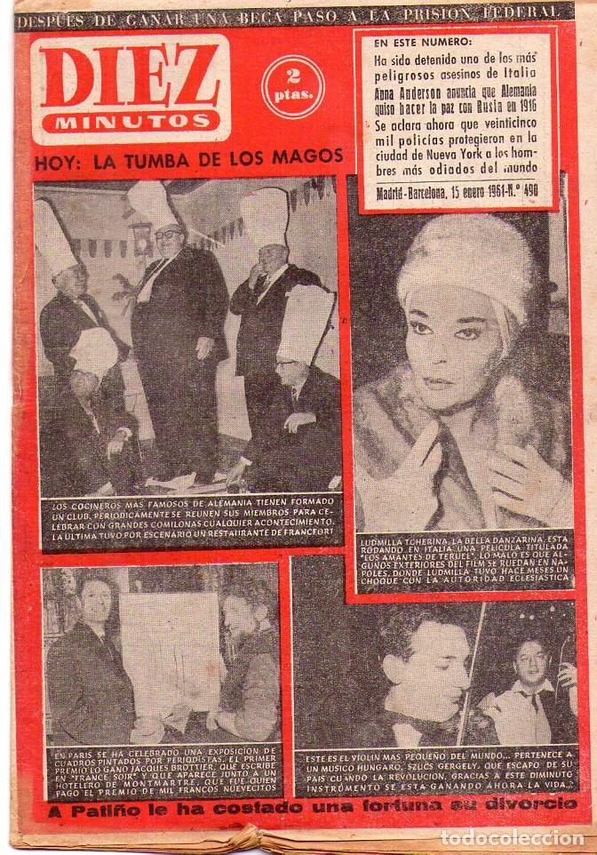 DIEZ MINUTOS *** LOTE 48 REVISTAS DIEZ MINUTOS AÑO 1961 (Coleccionismo - Revistas y Periódicos Modernos (a partir de 1.940) - Revista Diez Minutos)