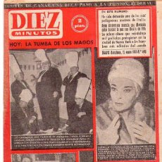 Coleccionismo de Revista Diez Minutos: DIEZ MINUTOS *** LOTE 48 REVISTAS DIEZ MINUTOS AÑO 1961. Lote 105856023