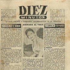 Coleccionismo de Revista Diez Minutos: DIEZ MINUTOS Nº 225 - LA MAS AMENA Y COMPLETA INFORMACION DE LA SEMANA - NUMERO DE 20 PAGINAS. Lote 106641135