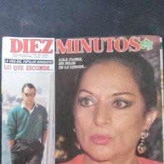 Coleccionismo de Revista Diez Minutos: LOLA FLORES-SARA MONTIEL-ISABEL PANTOJA-GABRIELA SABATINI-ESTEFANIA-RAFFAELLA CARRA-LYDIA BOSCH. Lote 106794875