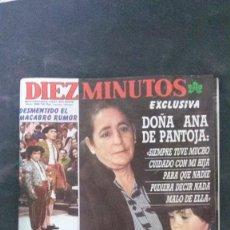 Coleccionismo de Revista Diez Minutos: VICTORIA VERA-ISABEL PANTOJA-ESTEFANIA-UN DOS TRES-SAMANTHA FOX-LOLA FLORES- BEATLES-CARMEN CERVERA. Lote 107061111