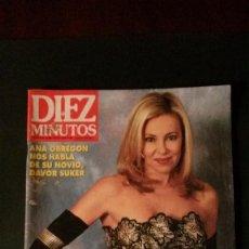 Coleccionismo de Revista Diez Minutos: ANA OBREGON-MARTES Y TRECE-ISABEL SERRANO-RAPHAEL-ISABEL PANTOJA-PALOMA LAGO-MISS ESPAÑA-MECANO. Lote 107327387