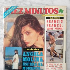 Coleccionismo de Revista Diez Minutos: DIEZ MINUTOS - 1980 - ANGELA MOLINA, VICTORIA ABRIL, LOLA FORNER, SARA MONTIEL, M. BOSE, ANA OBREGON. Lote 110091895