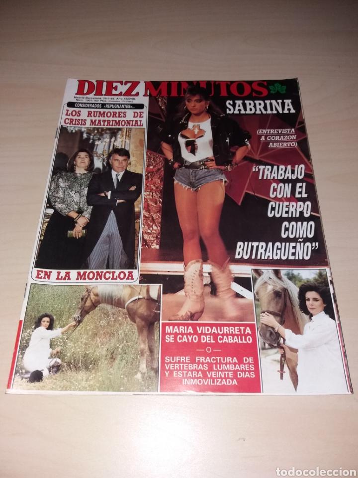 DIEZ MINUTOS - 26-01-88 - SABRINA - MIGUEL BOSÉ - ETC... (Coleccionismo - Revistas y Periódicos Modernos (a partir de 1.940) - Revista Diez Minutos)