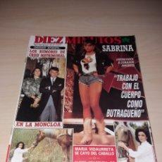 Coleccionismo de Revista Diez Minutos: DIEZ MINUTOS - 26-01-88 - SABRINA - MIGUEL BOSÉ - ETC.... Lote 112791212