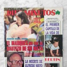 Coleccionismo de Revista Diez Minutos: DIEZ MINUTOS - 1985 - BERTÍN OSBORNE, ANA BELEN, SILVIA TORTOSA, CONCHA VELASCO, PALOMA SAN BASILIO. Lote 113291131