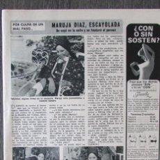 Coleccionismo de Revista Diez Minutos: RECORTE DIEZ MINUTOS 1238 1975. MARUJA DIAZ, MARUJITA. Lote 114164679