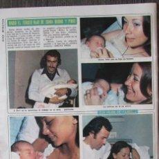 Coleccionismo de Revista Diez Minutos: RECORTE DIEZ MINUTOS 1238 1975. SONIA BRUNO Y PIQQI. JULIO IGLESIAS, ISABEL PREYSLER. Lote 114175227