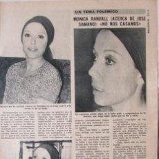 Coleccionismo de Revista Diez Minutos: RECORTE DIEZ MINUTOS 1238 1975. MÓNICA RANDALL. Lote 114175359