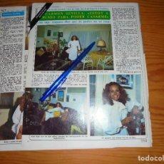 Coleccionismo de Revista Diez Minutos: RECORTE DE PRENSA : ENTREVISTA A CARMEN SEVILLA. DIEZ MINUTOS, 1981. Lote 114509575