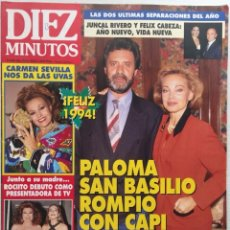 Coleccionismo de Revista Diez Minutos: DIEZ MINUTOS Nº 2211 CARMEN SEVILLA / PALOMA SAN BASILIO / ROCIO JURADO. Lote 114864471