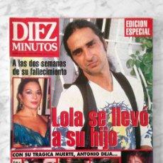 Collectionnisme de Magazine Diez Minutos: DIEZ MINUTOS - 1995 - ANTONIO FLORES, IVONNE REYES, EUGENIA SANTANA, SARA MONTIEL, V ABRIL, R JURADO. Lote 114885271