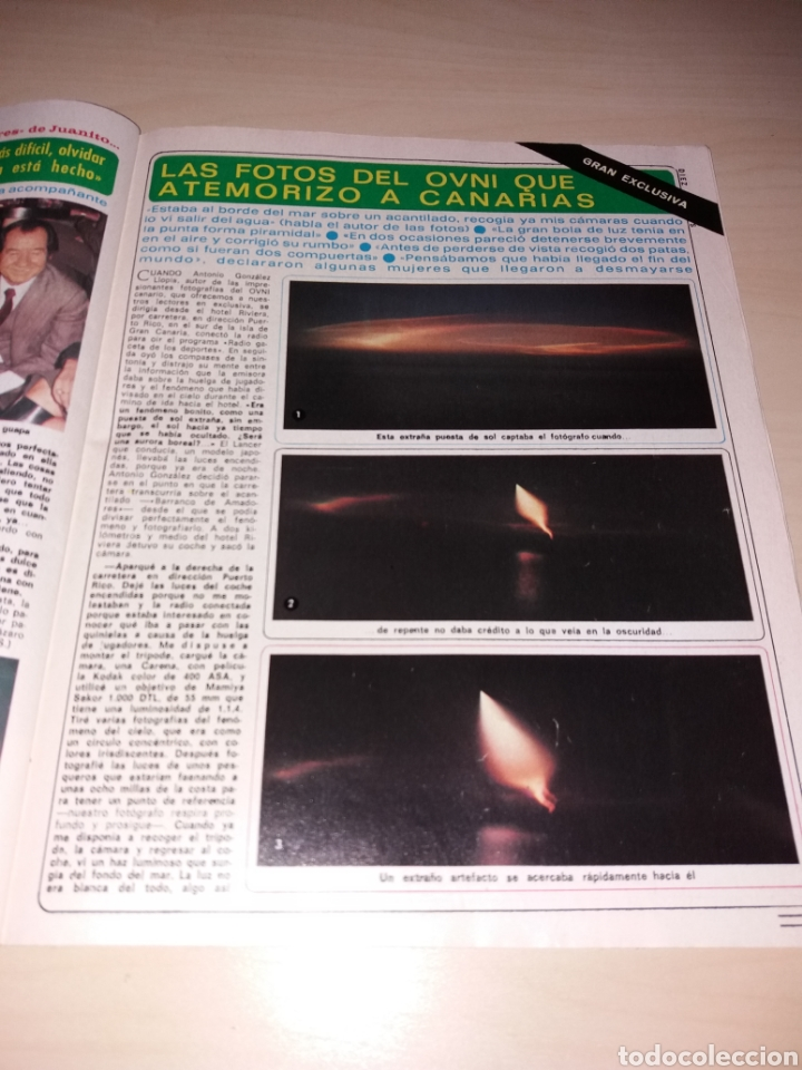 Coleccionismo de Revista Diez Minutos: DIEZ MINUTOS año 1979, Número 1439 - ISABEL PANTOJA - LAS FOTOS OVNIS Q ATEMORIZO A CANARIAS - Foto 12 - 115407387
