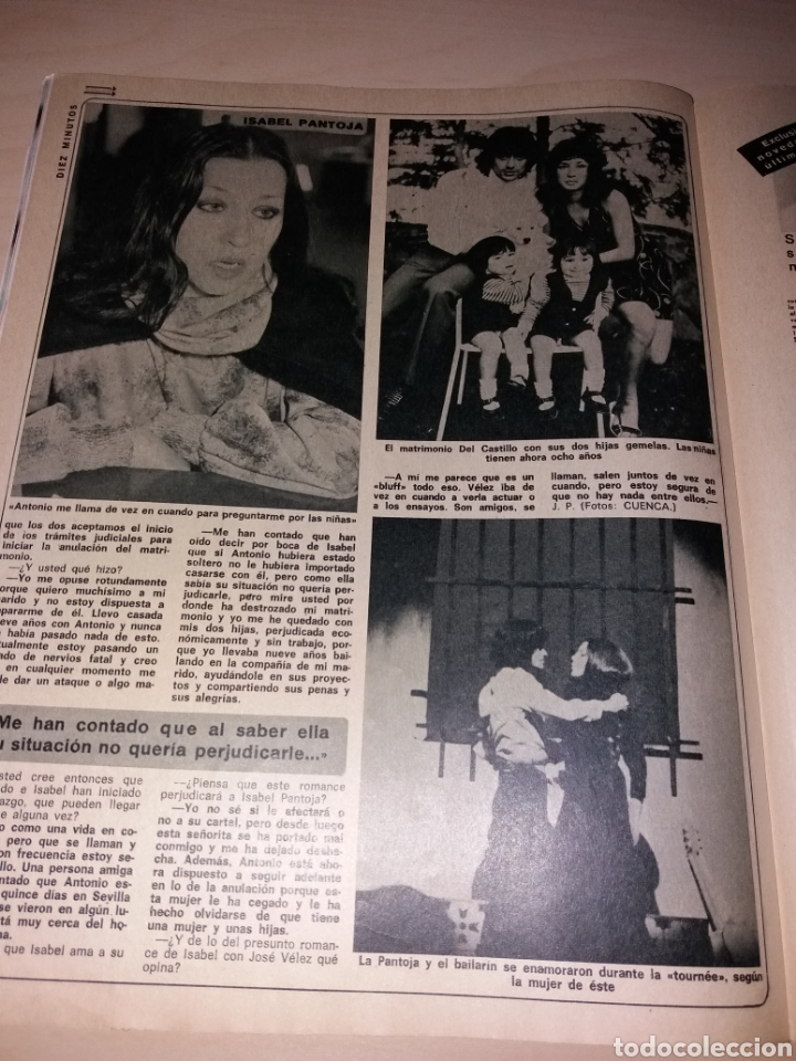 Coleccionismo de Revista Diez Minutos: DIEZ MINUTOS año 1979, Número 1439 - ISABEL PANTOJA - LAS FOTOS OVNIS Q ATEMORIZO A CANARIAS - Foto 3 - 115407387