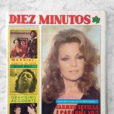Coleccionismo de Revista Diez Minutos: DIEZ MINUTOS - 1976 CARMEN SEVILLA, JUAN BAU, MASSIEL, SILVIA DIONISIO, LOS DIABLOS, CONCHA VELASCO. Lote 115467787