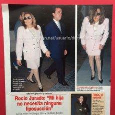 Coleccionismo de Revista Diez Minutos: RECORTE REVISTA DIEZ MINUTOS ROCIO JURADO. Lote 115704739