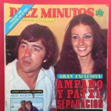 Coleccionismo de Revista Diez Minutos: DIEZ MINUTOS Nº 1381 AMPARO Y PATXI / PACO ALCALDE / ISABEL TENAILLE / URSULA ANDRESS / PERRY KING. Lote 115706675