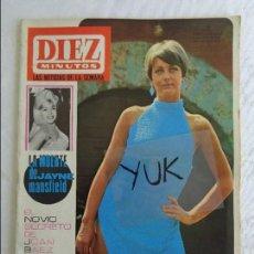 Coleccionismo de Revista Diez Minutos: DIEZ MINUTOS AÑO 1967 Nº 828 - JAYNE MANSFIELD - JOHNNY HALLIDAY - FRANCOIS DORLEAC - MARISOL .... Lote 115744639