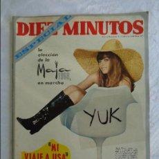 Coleccionismo de Revista Diez Minutos: DIEZ MINUTOS ESPECIAL AÑO 1968 Nº 871 - SERRAT - FRANCOISE HARDY - LONE STAR - CARY GRANT -MAJA 1968. Lote 115765471