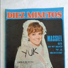 Coleccionismo de Revista Diez Minutos: DIEZ MINUTOS - 1968 - Nº 867 - RITA PAVONE - MASSIEL- ROCÍO DÚRCAL - B. BARDOT - PASCUAL PETIT .... Lote 115766067