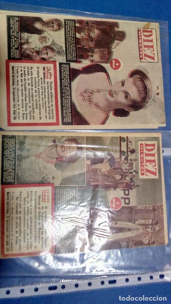LOTE DE DOS REVISTAS DIEZ MINUTOS 1954 (Coleccionismo - Revistas y Periódicos Modernos (a partir de 1.940) - Revista Diez Minutos)