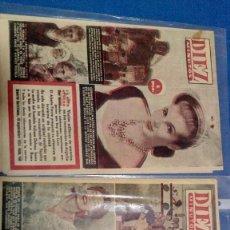 Coleccionismo de Revista Diez Minutos: LOTE DE DOS REVISTAS DIEZ MINUTOS 1954. Lote 116951227