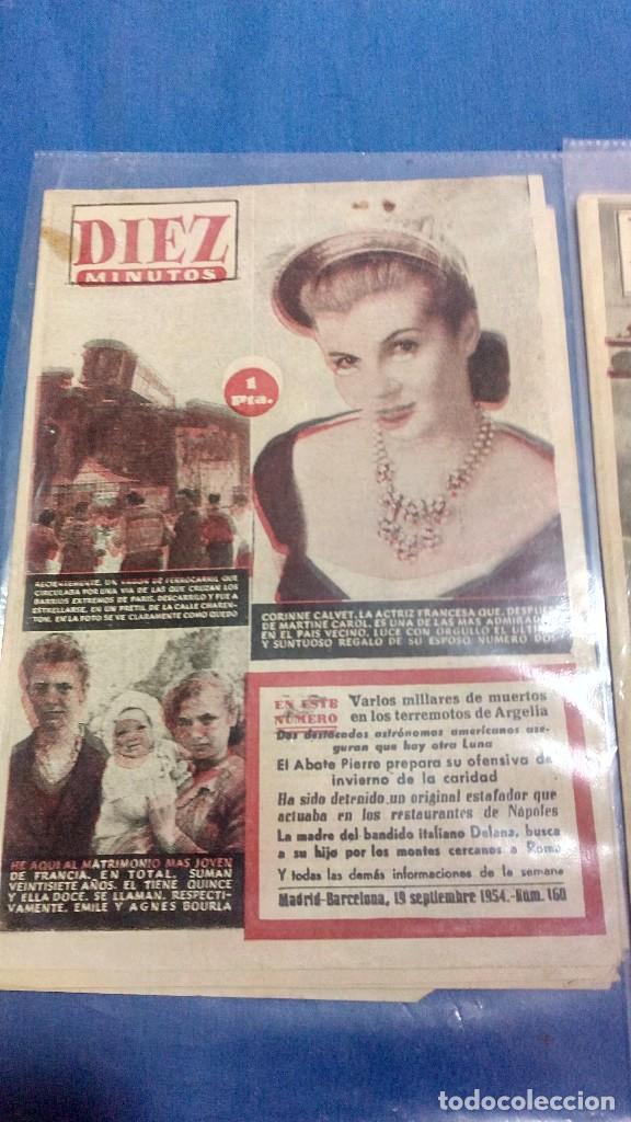 Coleccionismo de Revista Diez Minutos: Lote de dos revistas diez minutos 1954 - Foto 2 - 116951227
