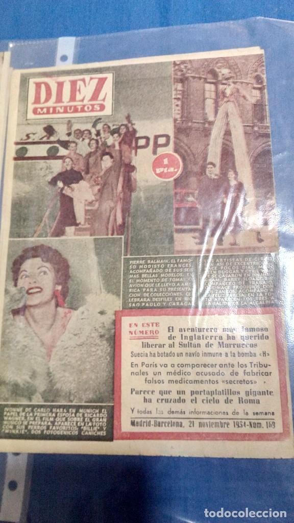 Coleccionismo de Revista Diez Minutos: Lote de dos revistas diez minutos 1954 - Foto 3 - 116951227