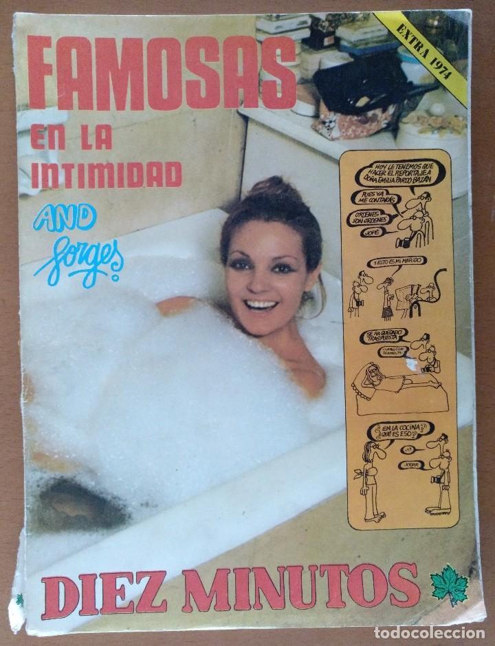 REVISTA DIEZ MINUTOS 40 FAMOSAS EN LA INTIMIDAD DIBUJOS FORGES EXTRA 1974 (Coleccionismo - Revistas y Periódicos Modernos (a partir de 1.940) - Revista Diez Minutos)