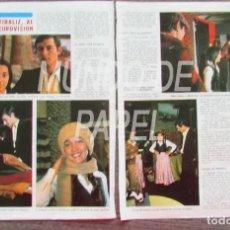 Coleccionismo de Revista Diez Minutos: RECORTE DIEZ MINUTOS 1222 1975 SERGIO Y ESTIBALIZ, AL FESTIVAL DE EUROVISION, CAROLYN MUNRO. Lote 117602275