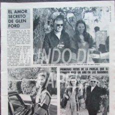Coleccionismo de Revista Diez Minutos: RECORTE DIEZ MINUTOS 1222 1975 EL AMOR SECRETO DE GLEN FORD. Lote 117602303
