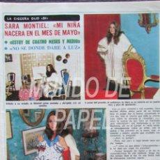 Coleccionismo de Revista Diez Minutos: RECORTE DIEZ MINUTOS 1222 1975 SARA MONTIEL. . Lote 117602487
