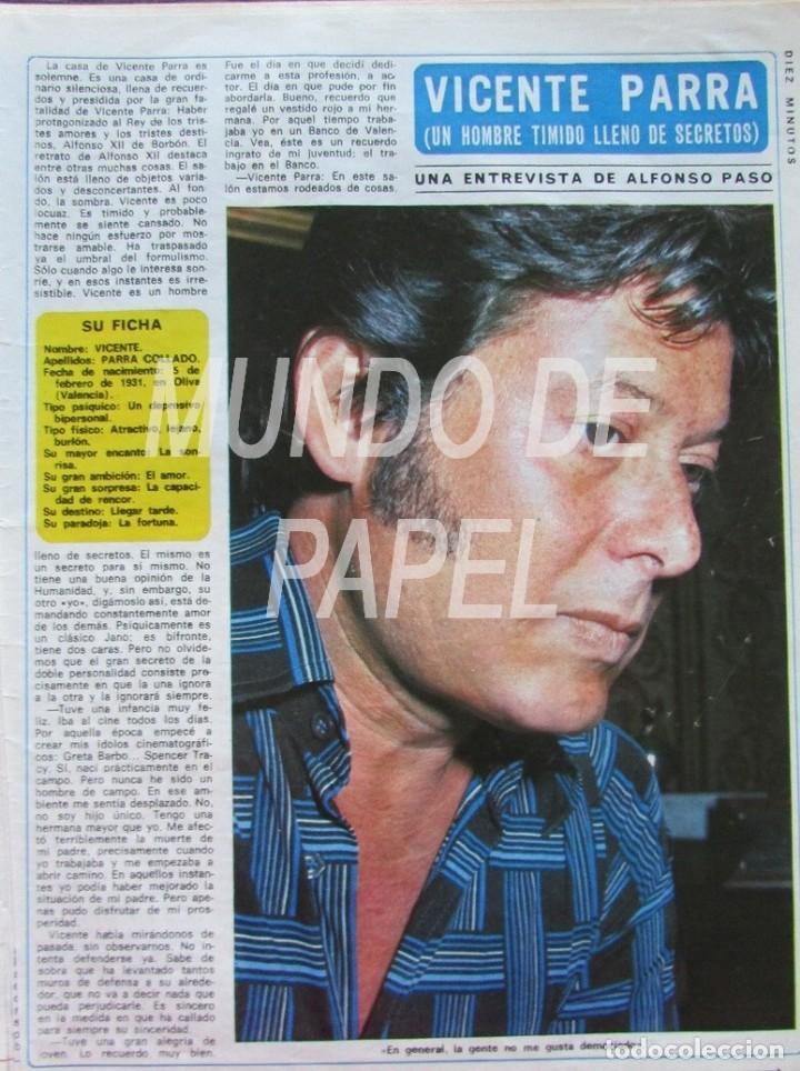 RECORTE DIEZ MINUTOS 1222 1975 VICENTE PARRA (Coleccionismo - Revistas y Periódicos Modernos (a partir de 1.940) - Revista Diez Minutos)