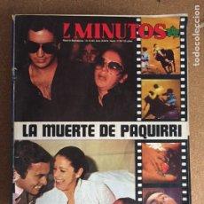 Coleccionismo de Revista Diez Minutos: REVISTA DIEZ MINUTOS LA MUERTE DE PAQUIRRI. Lote 118854252